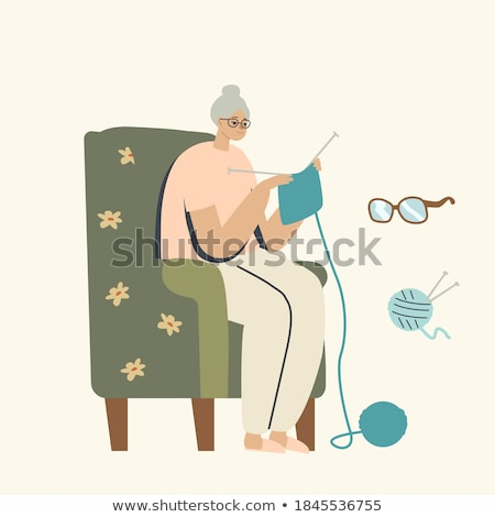 senior woman knitting stock photo © photography33