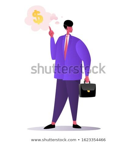 gazdag · üzletember · mutat · el · pénz · üzlet - stock fotó © photography33