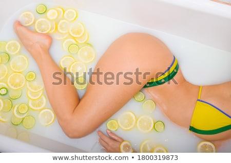 lichaam · zorg · vrouw · douche · badkamer · water - stockfoto © candyboxphoto