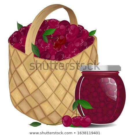 Bank of cherry jam Stock photo © Masha