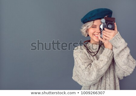 young female photographer Stock photo © photography33