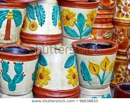 Mexicaanse markt kleurrijk marktplaats tuin Stockfoto © emattil
