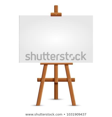 Cavalete papel em branco branco papel fundo Foto stock © fixer00