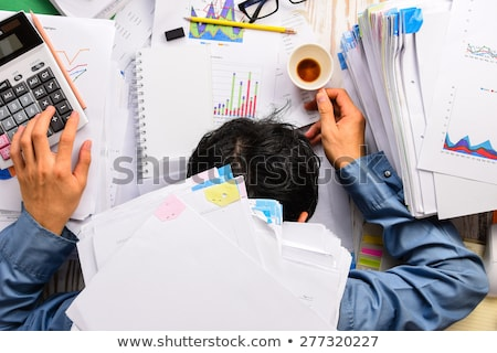 бизнесмен спящий документы человека фон Сток-фото © photography33