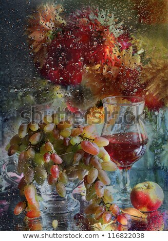 goblet blame and branch of grape  Stock photo © yurkina