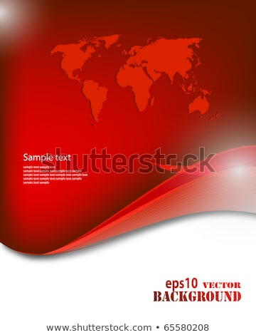 red business world map wave background with eps10 effects stock photo © designer_things