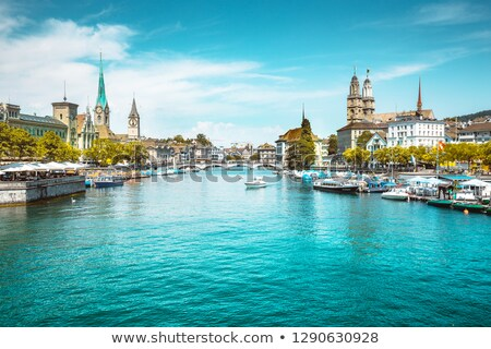 Zurich and the Limmat river Stock photo © sumners