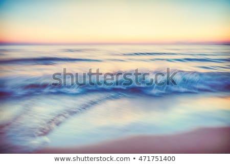bulanıklık · gün · batımı · manzara · deniz · manzaralı · nokta - stok fotoğraf © 3523studio