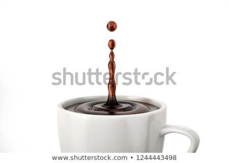 café · gouttes · tasse · café · noir · plein - photo stock © toaster