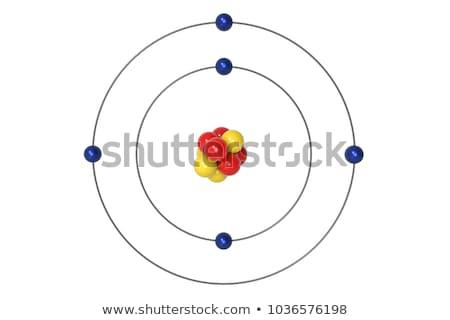 átomo elétron abstrato ciência química ilustração Foto stock © dagadu