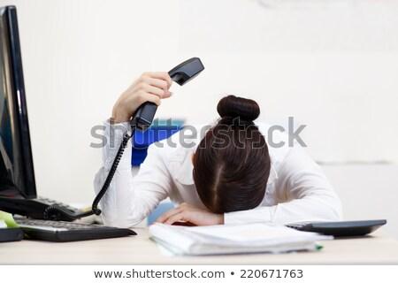 疲れ果てた · 秘書 · 小さな · かなり · 女性実業家 · 作業 - ストックフォト © photography33