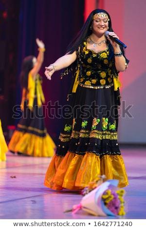 Szenvedélyes nő fekete szoknya lány divat Stock fotó © acidgrey