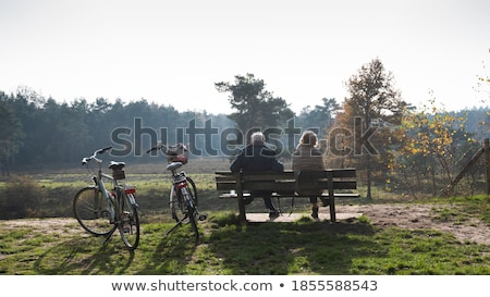 woman resting in park Stock photo © imarin