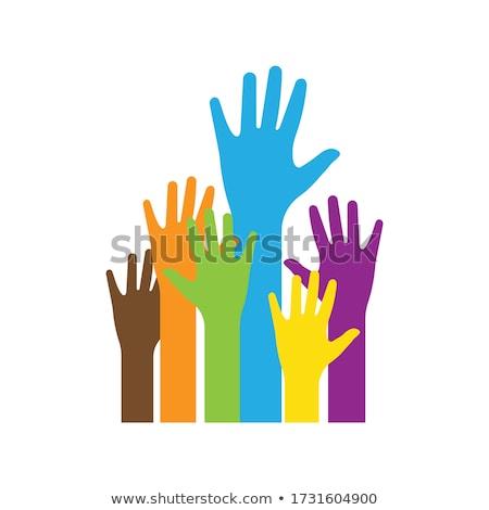 gönüllü · eller · topluluk · simge · grup · renkli - stok fotoğraf © creative_stock