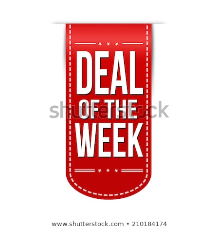 deal of the week  red star stock photo © marinini