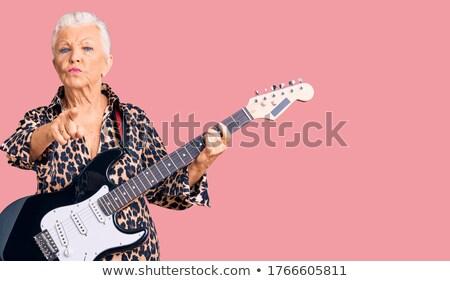 глядя · бабушки · белые · волосы · улыбка · лице · счастливым - Сток-фото © ozgur