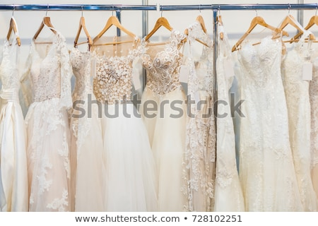 Collection of wedding dresses in the shop Stock photo © gsermek