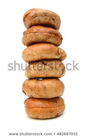 Stack or Cinnamon Bagels Stock photo © Gordo25