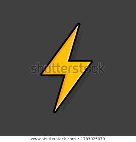 bliksem · kleurrijk · icon · cirkel · ontwerp · energie - stockfoto © cidepix