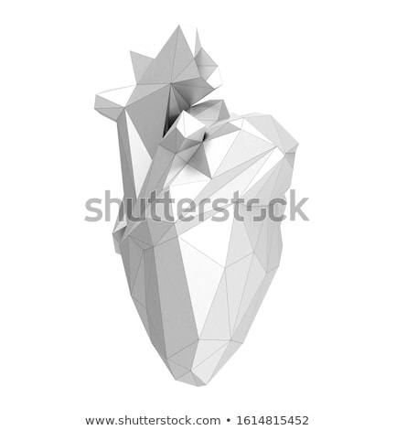 Digital illustration of Human heart in abstract background Stock photo © 4designersart