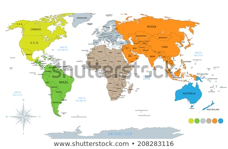 Map of the world with compass  Stock photo © Lightsource