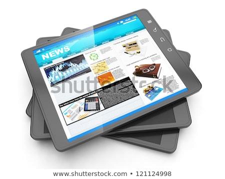 Notícia internet fresco página espaço Foto stock © kolobsek