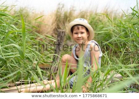 Baby boy in stetson hat Stock photo © Anna_Om