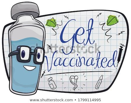 醫生 小瓶 注射器 玻璃 醫藥 關心 商業照片 © cheyennezj