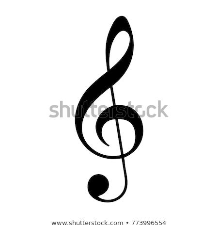 Klucz wiolinowy clipart Zdjęcia stock © zzve