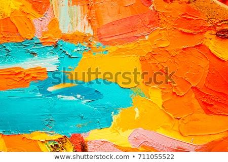 öreg citromsárga festmény textúra fal absztrakt Stock fotó © Kheat