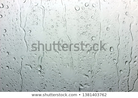 Yağmur damla kabarcıklar pencere plaj gökyüzü Stok fotoğraf © romvo