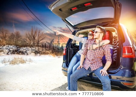 Two men on skiing trip Stock photo © photography33