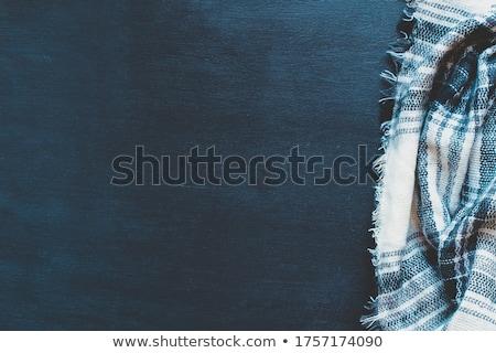 azul · a · rayas · lana · suéter · blanco - foto stock © vavlt