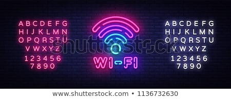 Stock photo: Bright WiFi symbol