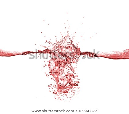 Splash of red colorful fluid or wine with droplets Stock photo © Arsgera