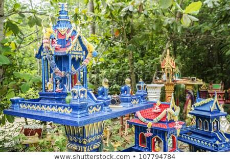 Buddhista szellem házak Thaiföld hagyományos épület Stock fotó © travelphotography