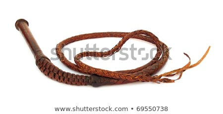 Leather whip isolated  Stock photo © michaklootwijk
