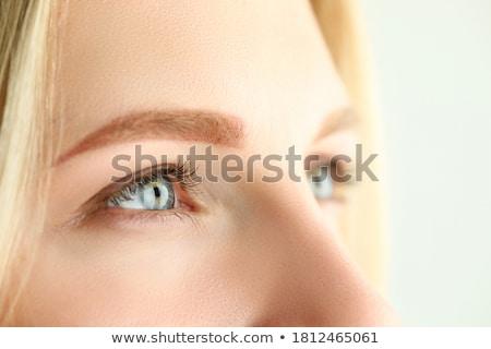 Gli occhi verdi faccia bellezza verde Foto d'archivio © pxhidalgo