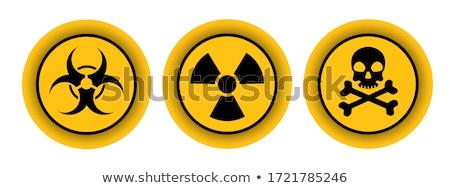 Nucleare radiazione simbolo giallo triangolo segno Foto d'archivio © nezezon