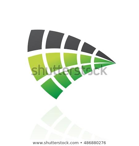 Colorato rettangolare abstract icona business design Foto d'archivio © cidepix