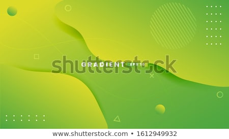futuristic abstract blue graphic background with green shapes stock photo © escander81