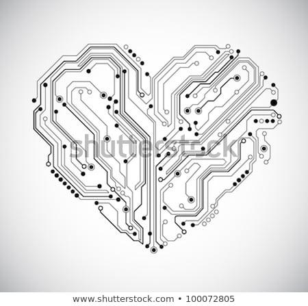 городского механический сердце передач листьев Сток-фото © Ansy