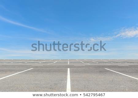 Stock fotó: üres · parkolás · beton · autó · stop · város