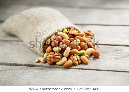 различный орехи таблице семени открытых никто Сток-фото © DedMorozz