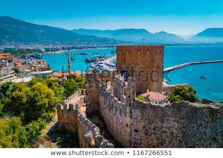 турецкий крепость Средиземное море морем город пляж Сток-фото © kravcs