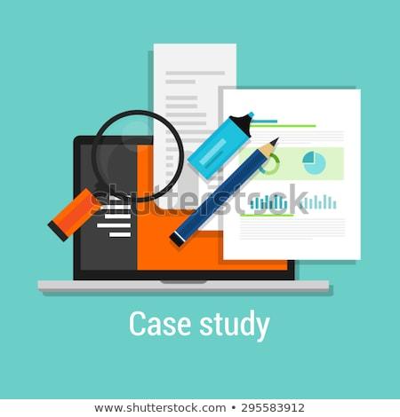 caso · estudar · projeto · fundo · educação - foto stock © tashatuvango