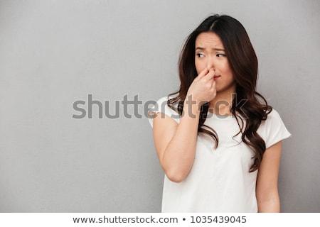 algo · retrato · belo · mulher · jovem · câmera - foto stock © ichiosea