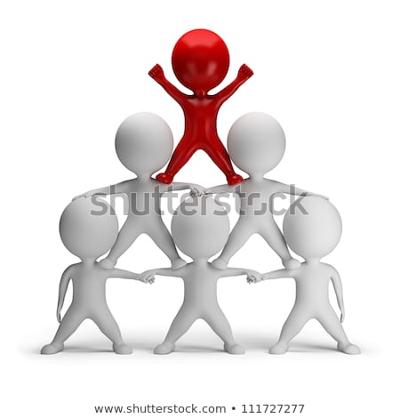 3d small people   business pyramid stock photo © anatolym