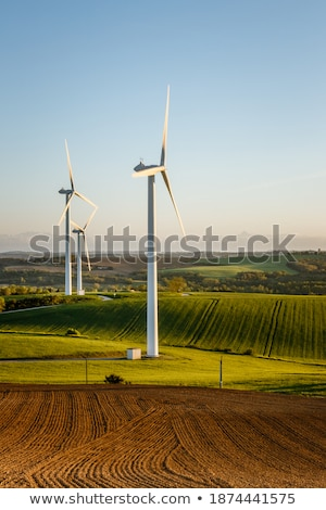 Wind turbine on a hill Stock photo © homydesign