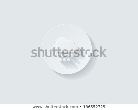 Floating Weather Icon with Long Shadow Stock photo © graphit